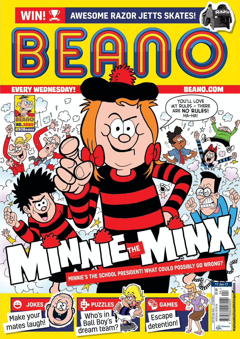 Beano 17th June 2017 No. 3889