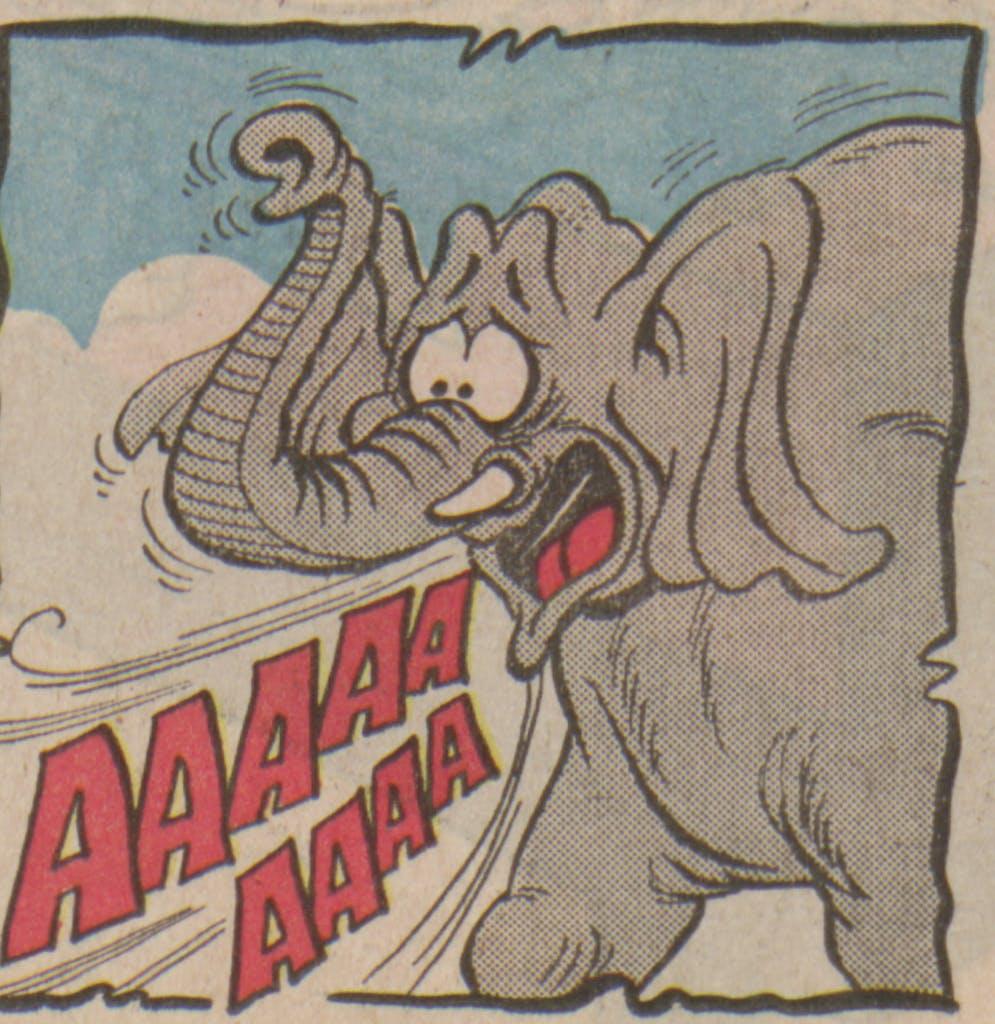Bananaman 1985 - one unhappy elephant
