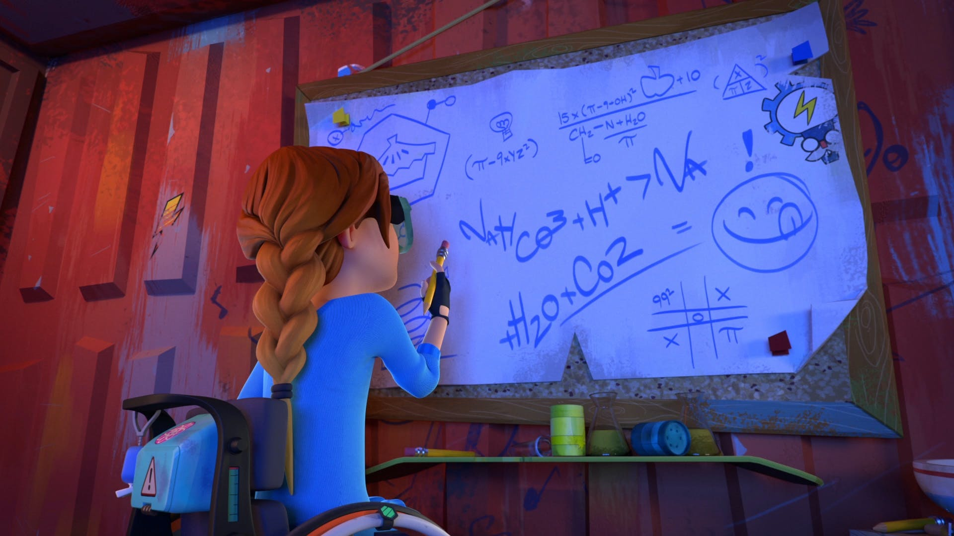 Rubi writes an equation