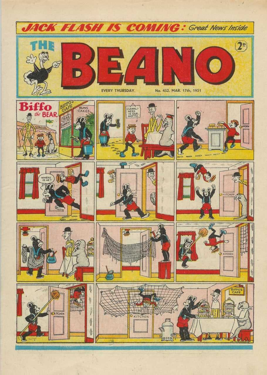 Beano No.452 - March 17, 1951 - the first issue to include Dennis the Menace