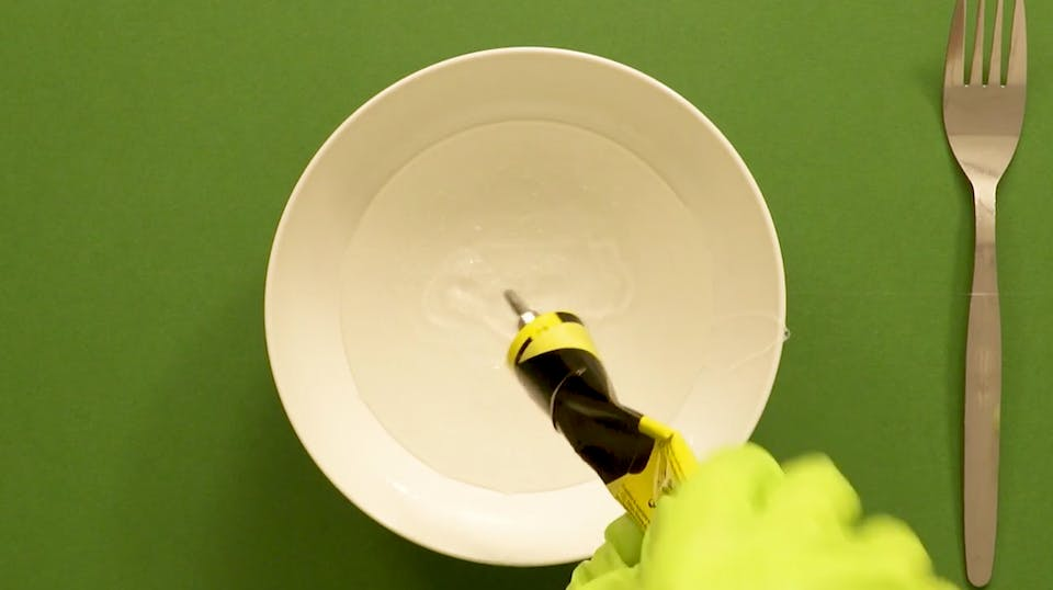 Squirt some glue into a bowl