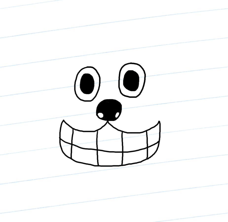 Gnasher's face