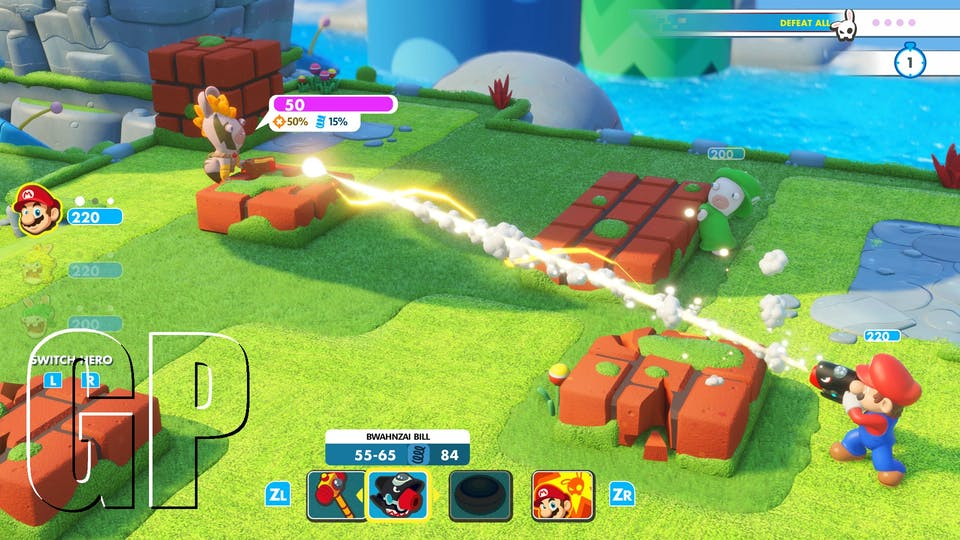 Mario + Rabbids in combat