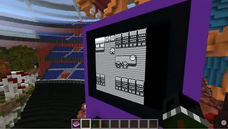 Play Pokemon Red and Blue inside Minecraft