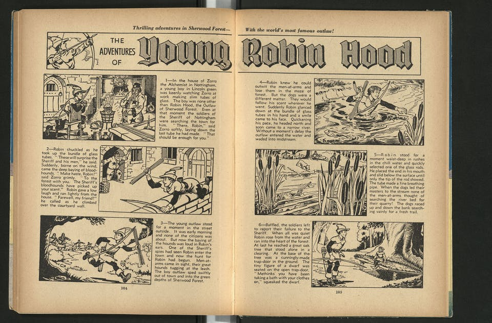Young Robin Hood - Beano Book 1955 Annual