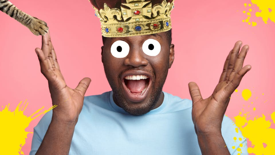 A surprised king