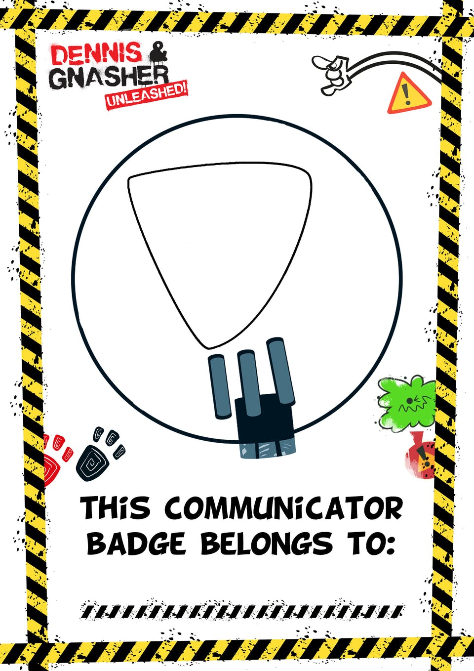 This communicator badge belongs to...