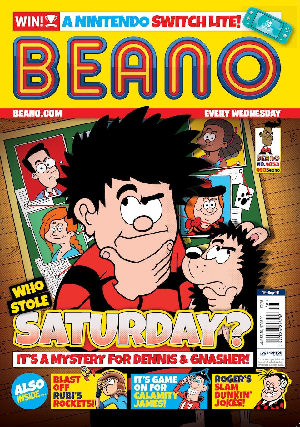 Inside Beano no.4053  - Who Stole Saturday?