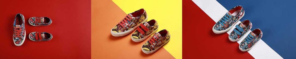 Marvel shoes by Superga