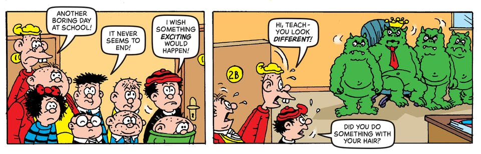 Inside beano 4022 Bash Street Kids