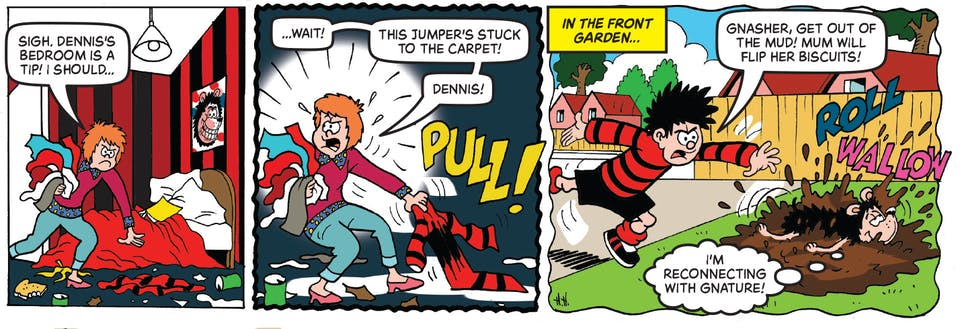 Inside Beano 4010 - Dennis and Gnasher