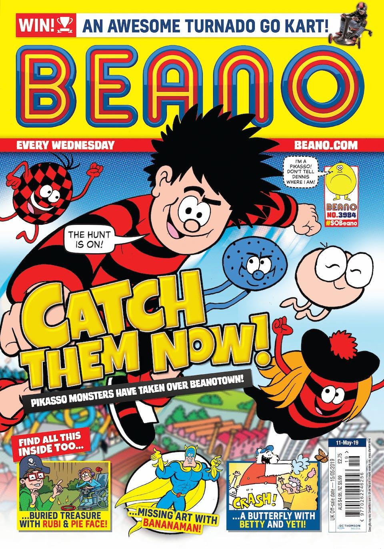 Inside Beano no. 3984 - Catch Them Now!