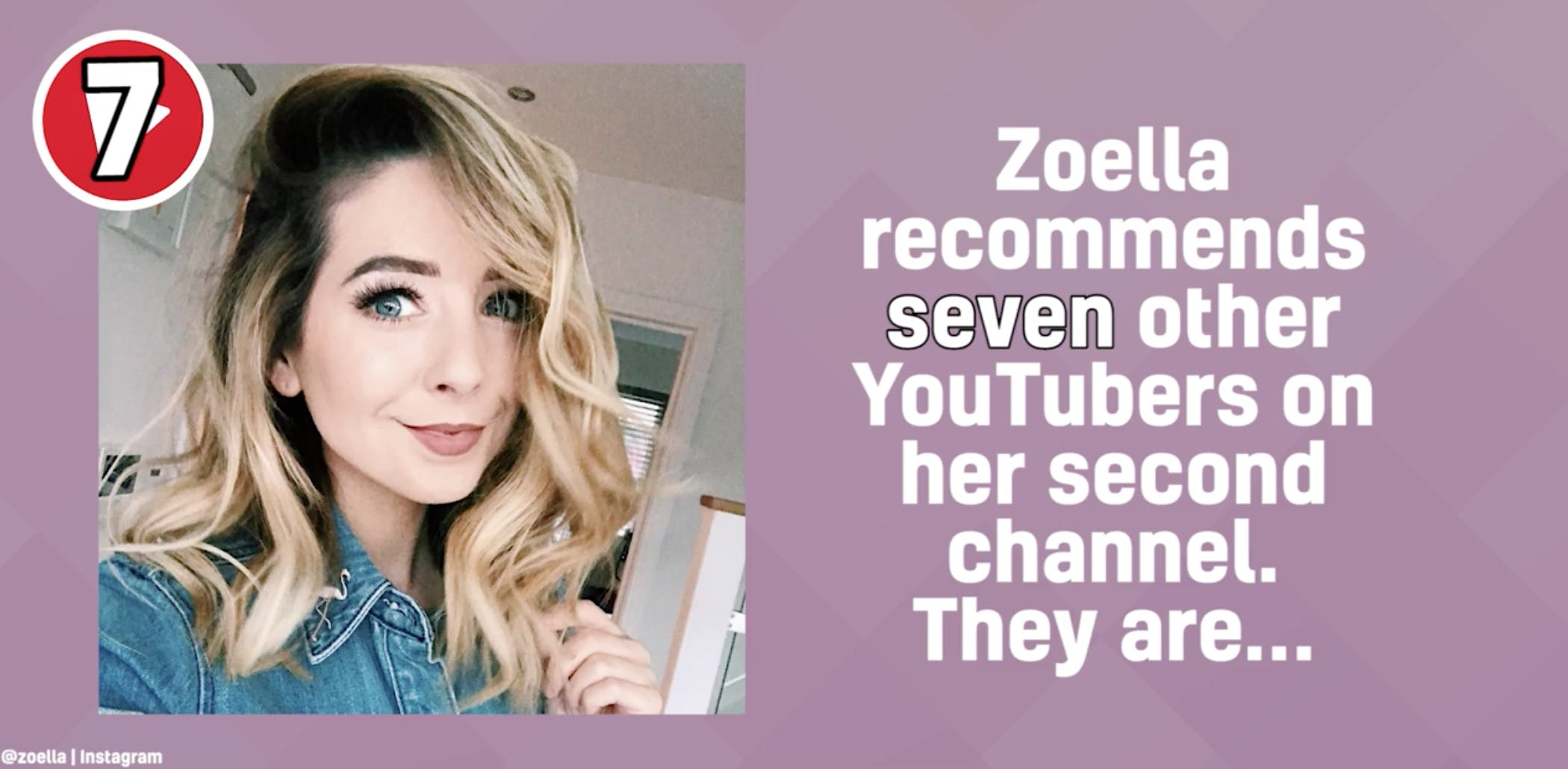 Zoella's YouTube recommendations
