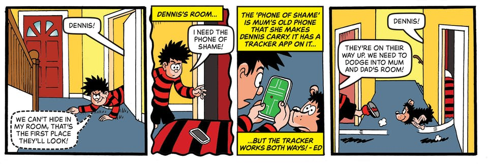 Inside Beano no. 4040  - Dennis & Gnasher