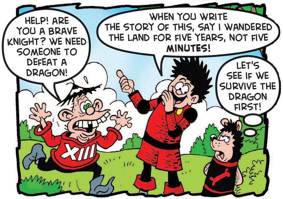 Dennis the Menace, the Black and Red Knight, Beano