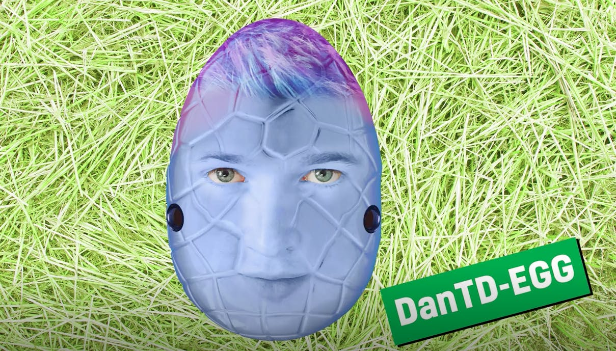 DanTDM as an Easter egg
