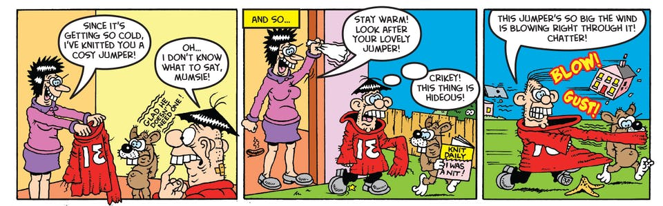 Inside Beano 3967 - James's jumper