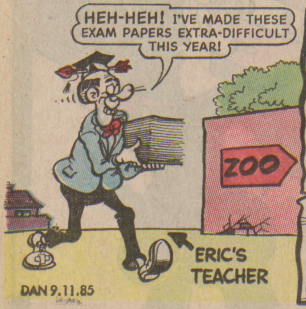 Bananaman 1985 - the teacher is in trouble