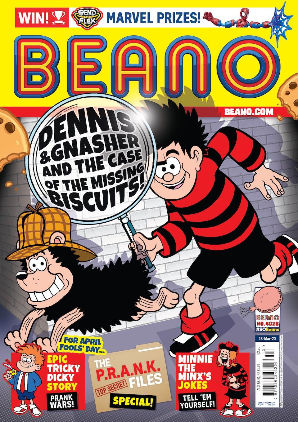 Inside Beano 4028 -  Dennis is on the case!