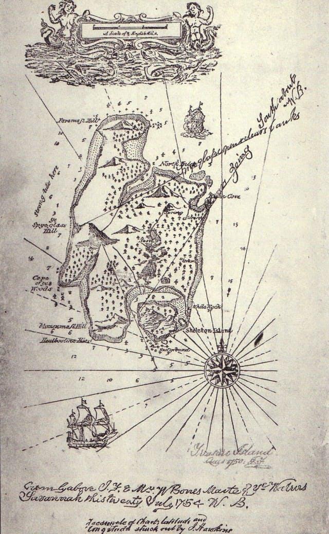 Map drawn by Robert Louis Stevenson