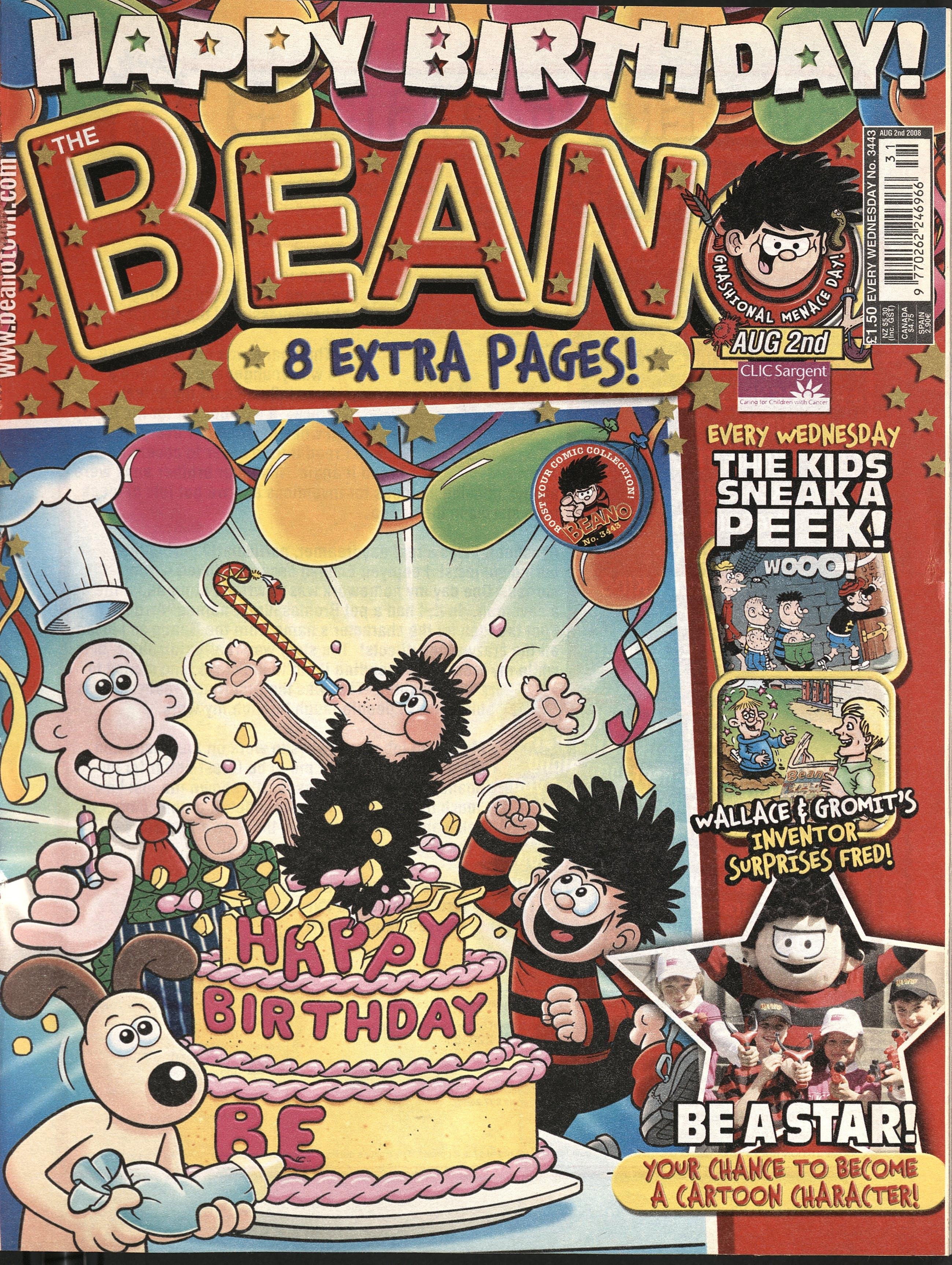 2008 beano cover