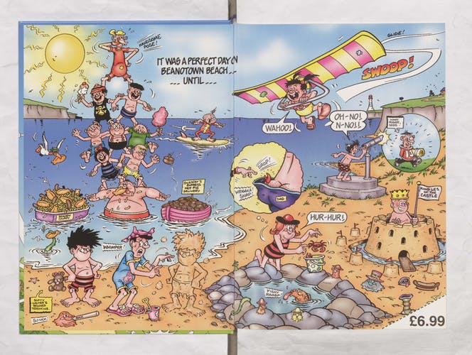 Spot the Difference at Beanotown Beach - Beano Annual 2005