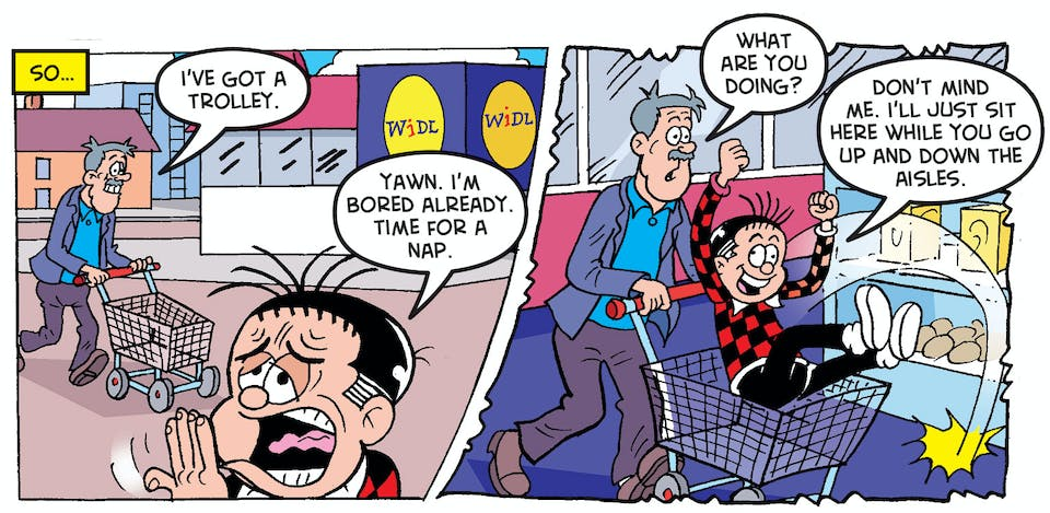 4.Roger's plan to be lazy isn't going to be stopped by something as dull as a shopping trip…