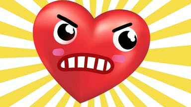 Angry fighting heart