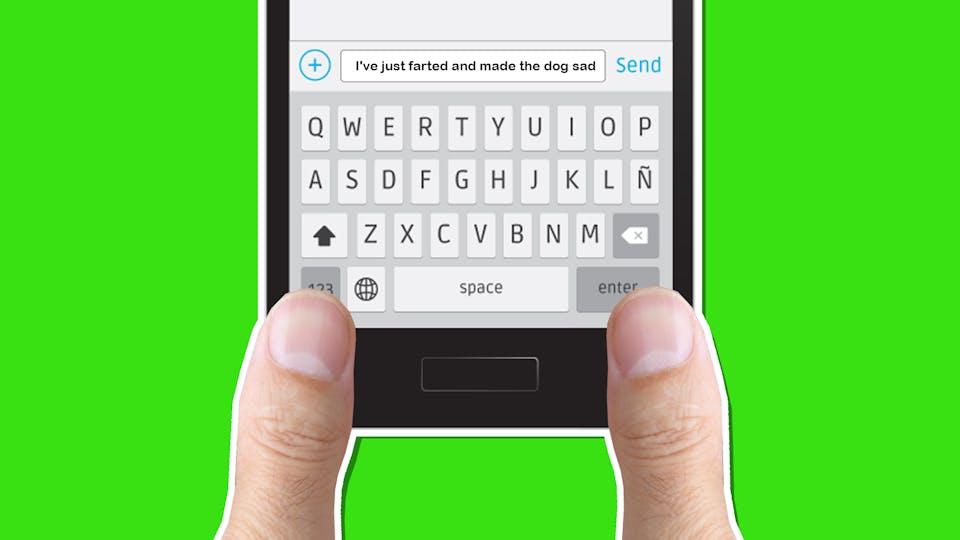 A text message