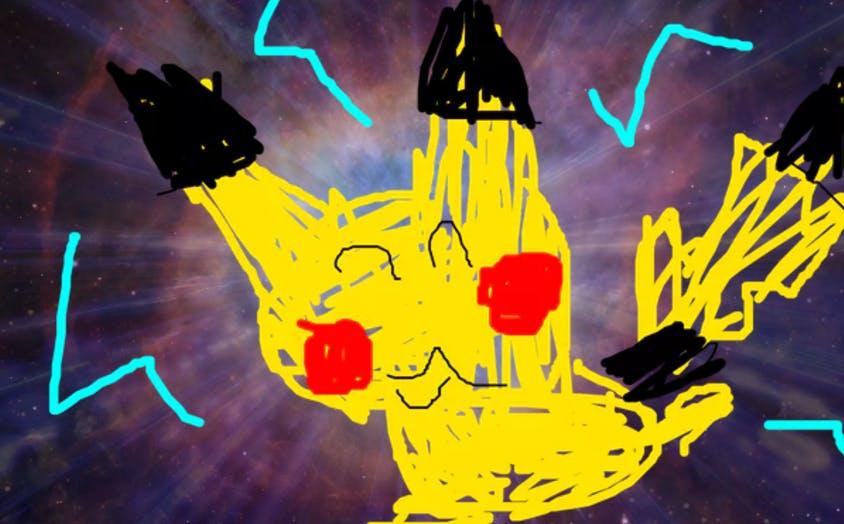 Pikachu in space!