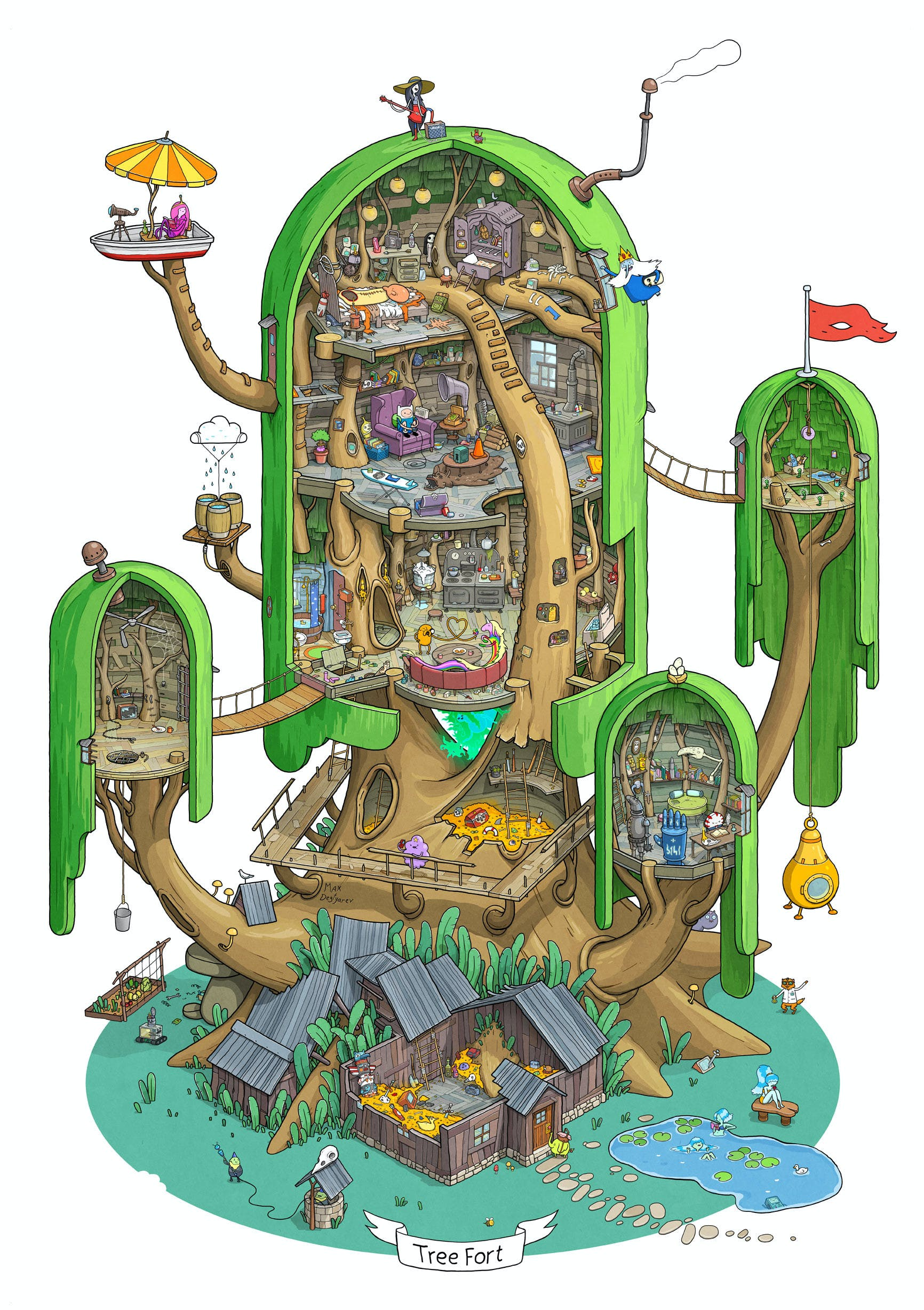 Finn and Jake's treehouse by Max Degtyarev