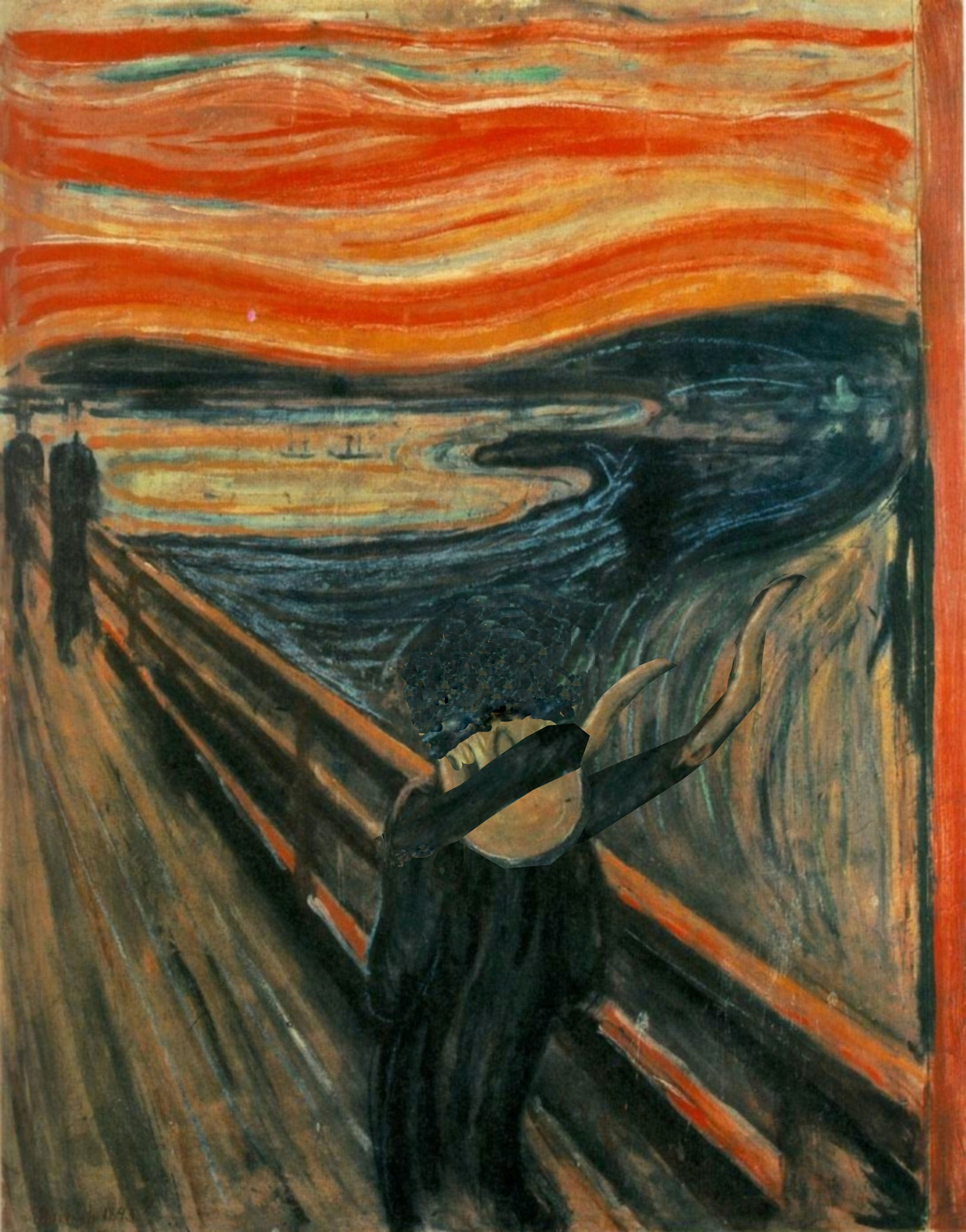 The Scream, dabbing!
