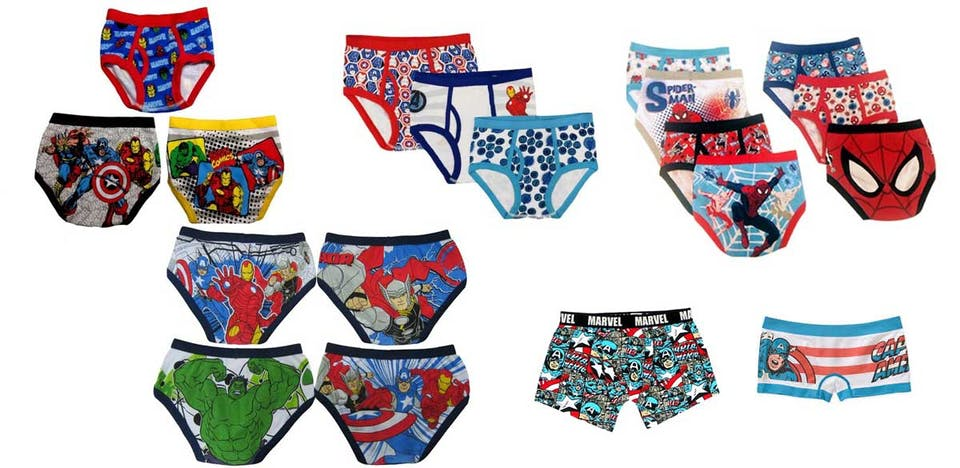 Marvel underpants from Walmart.com
