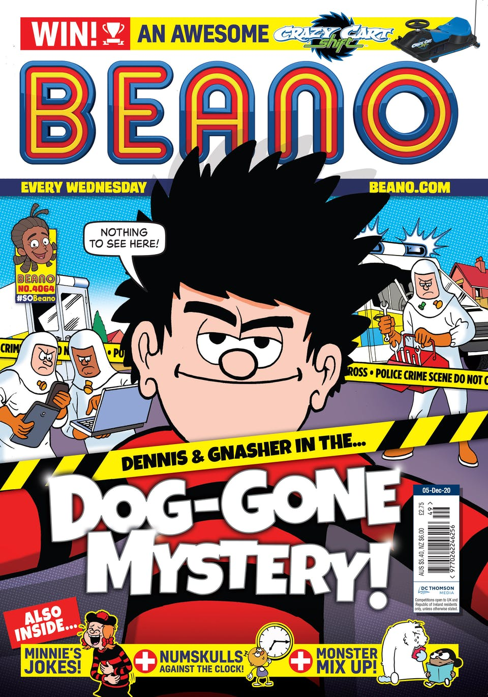 Inside Beano no. 4064 - It's a Dog-Gone Mystery for Dennis!