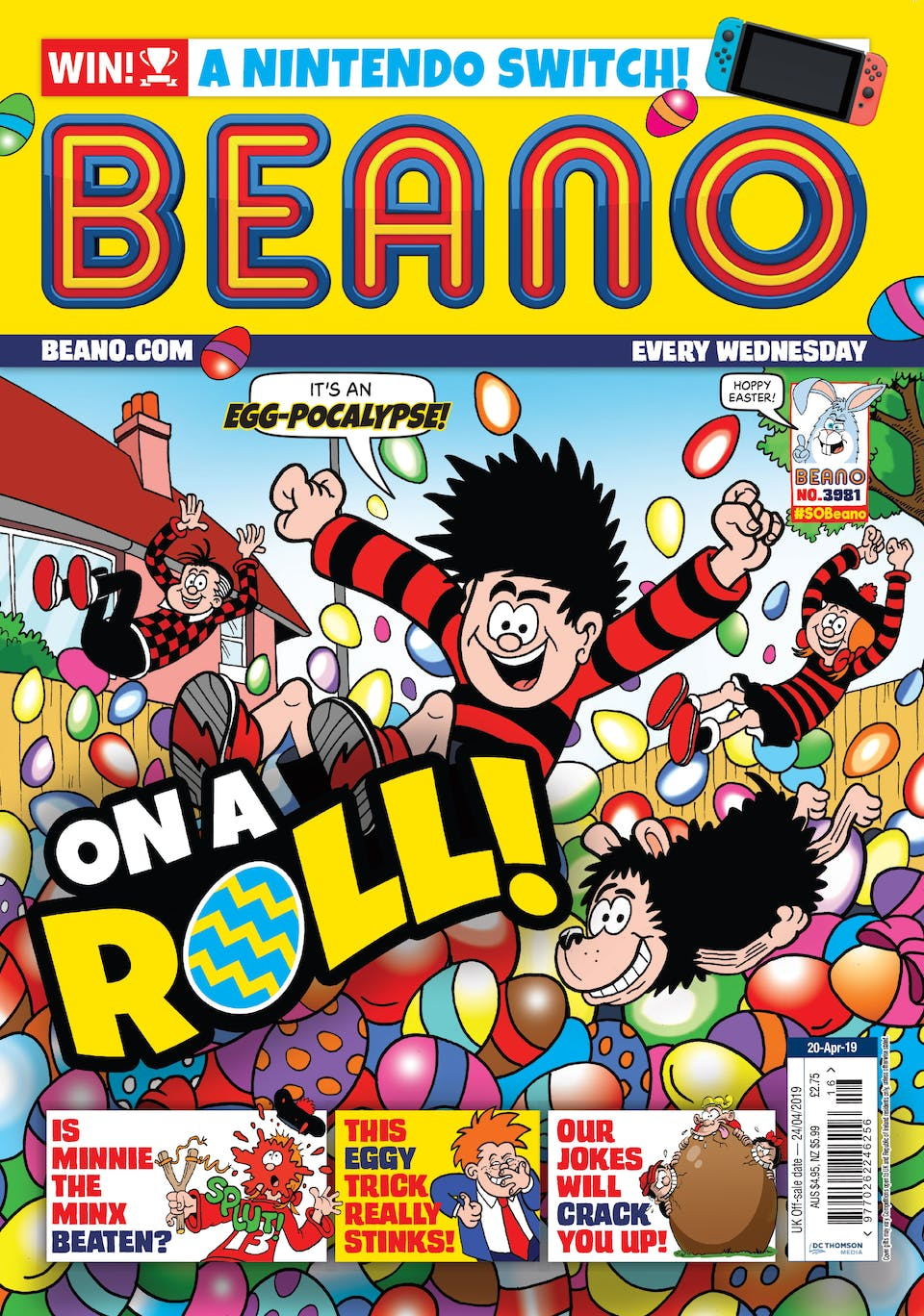 Beano no. 3981 - On a Roll!