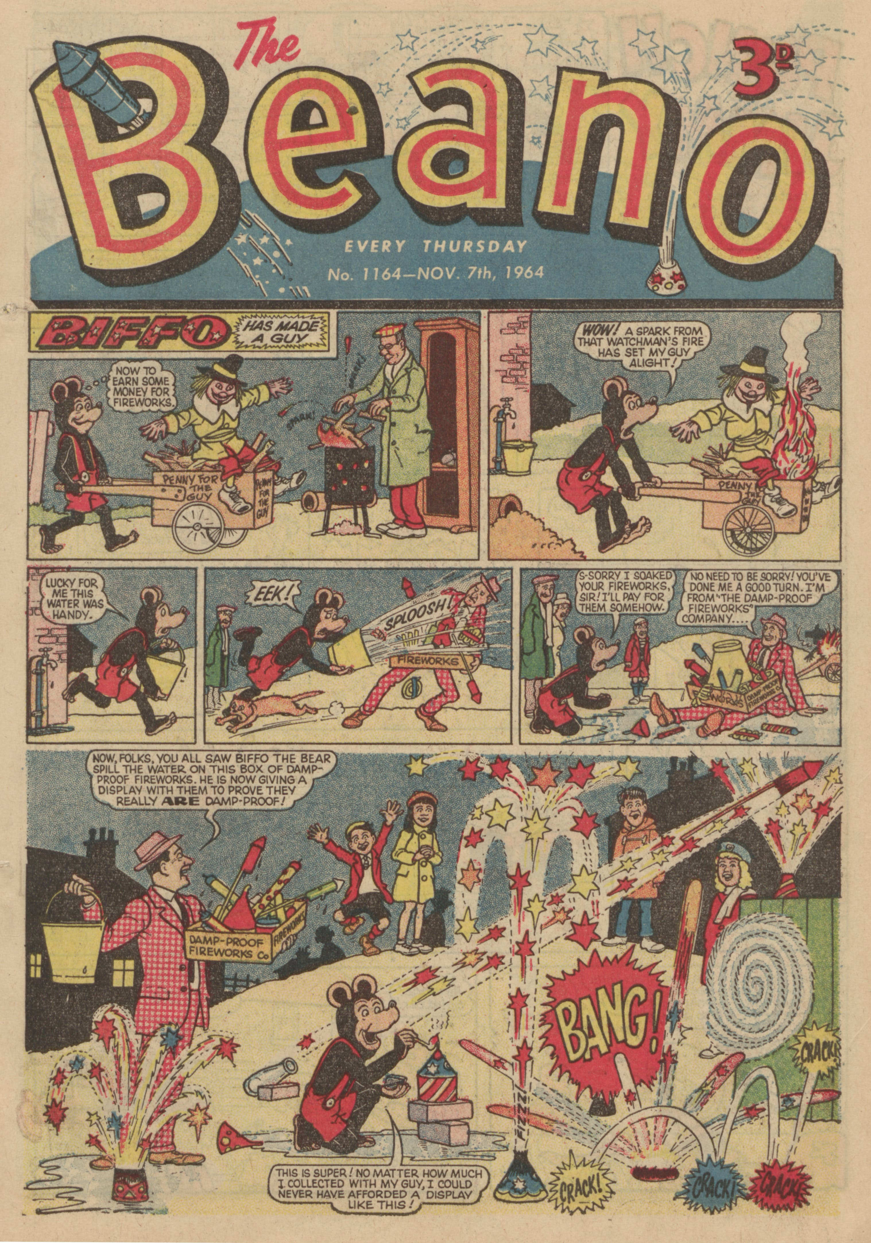 Biffo the Bear - Beano No. 1164 Nov. 7th 1964