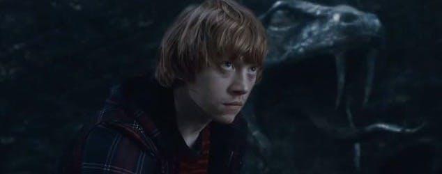 Ron Weasley looks scared in the dark