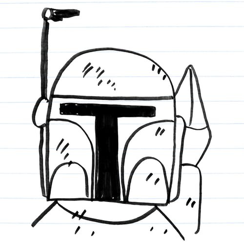 Drawing of Boba Fett