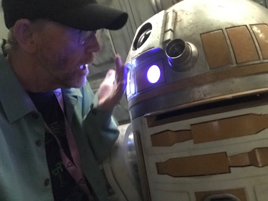 Ron Howard and a fairly familiar-looking droid