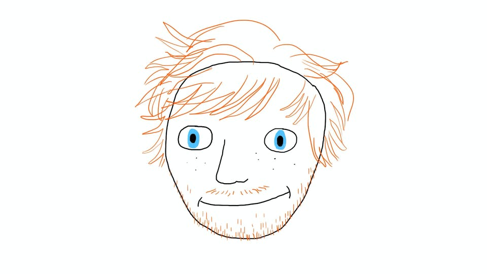 Ed Sheeran loose hair shape