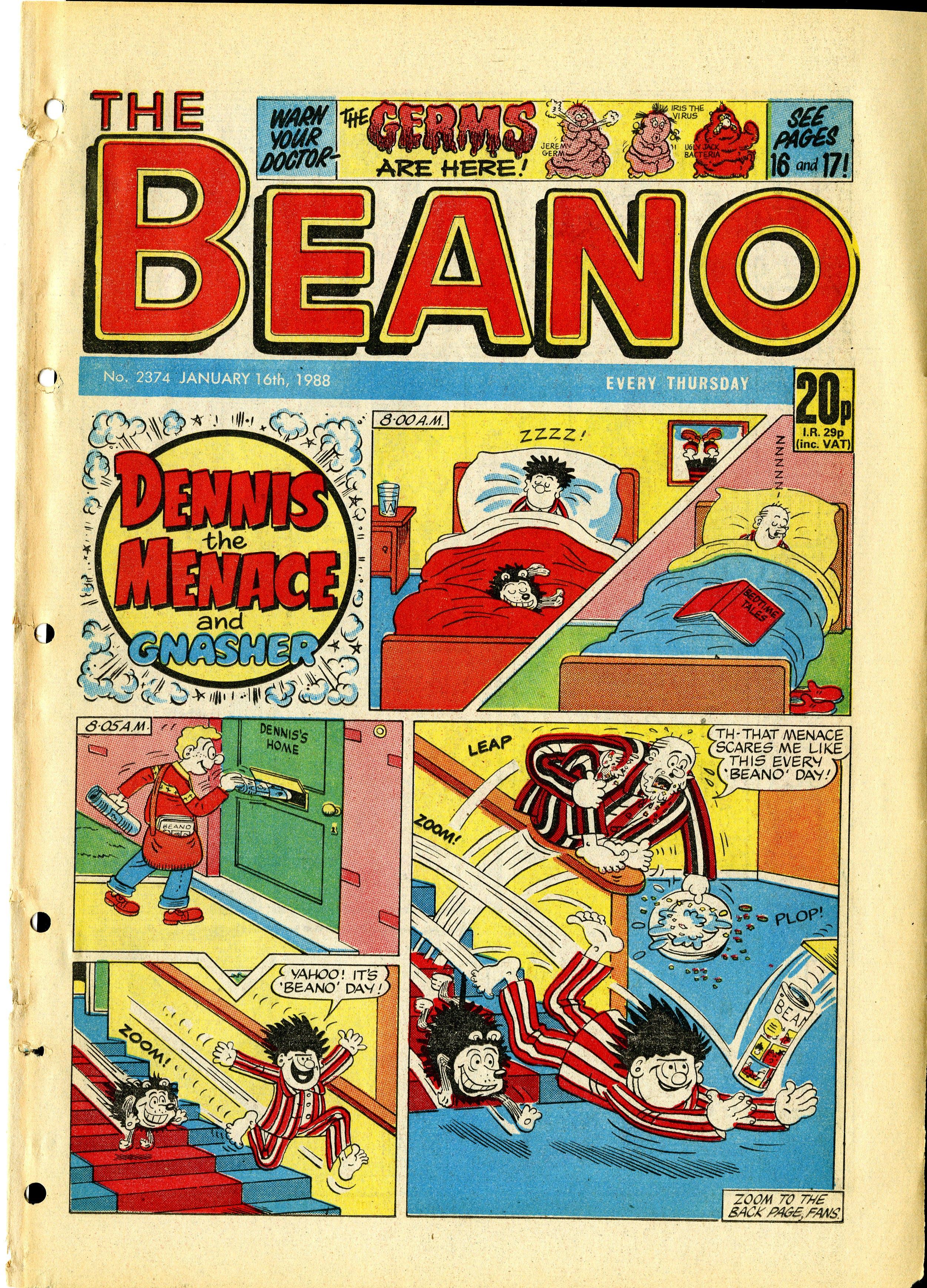 Beano January 16th 1988