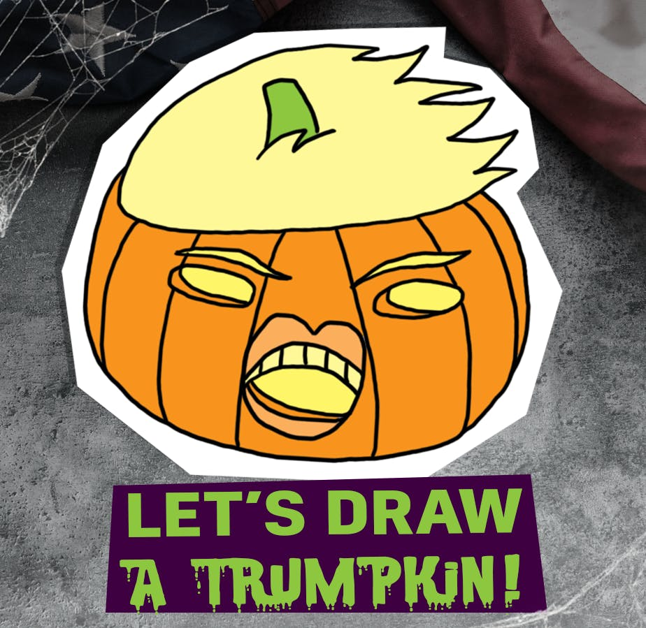 Let's draw a Trumpkin!