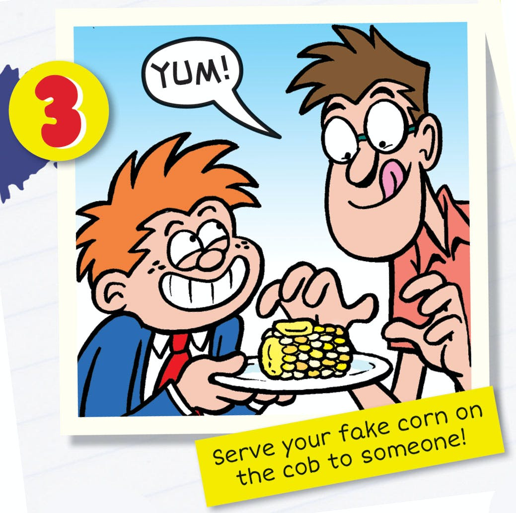 Tricky Dicky plays a corny prank - Tricky Dicky is the ultimate practical joker, appearing in Beano every week