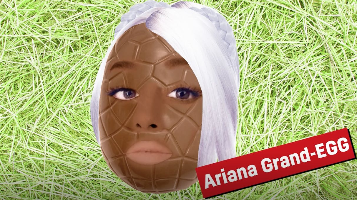 Ariana Grande as an Easter egg
