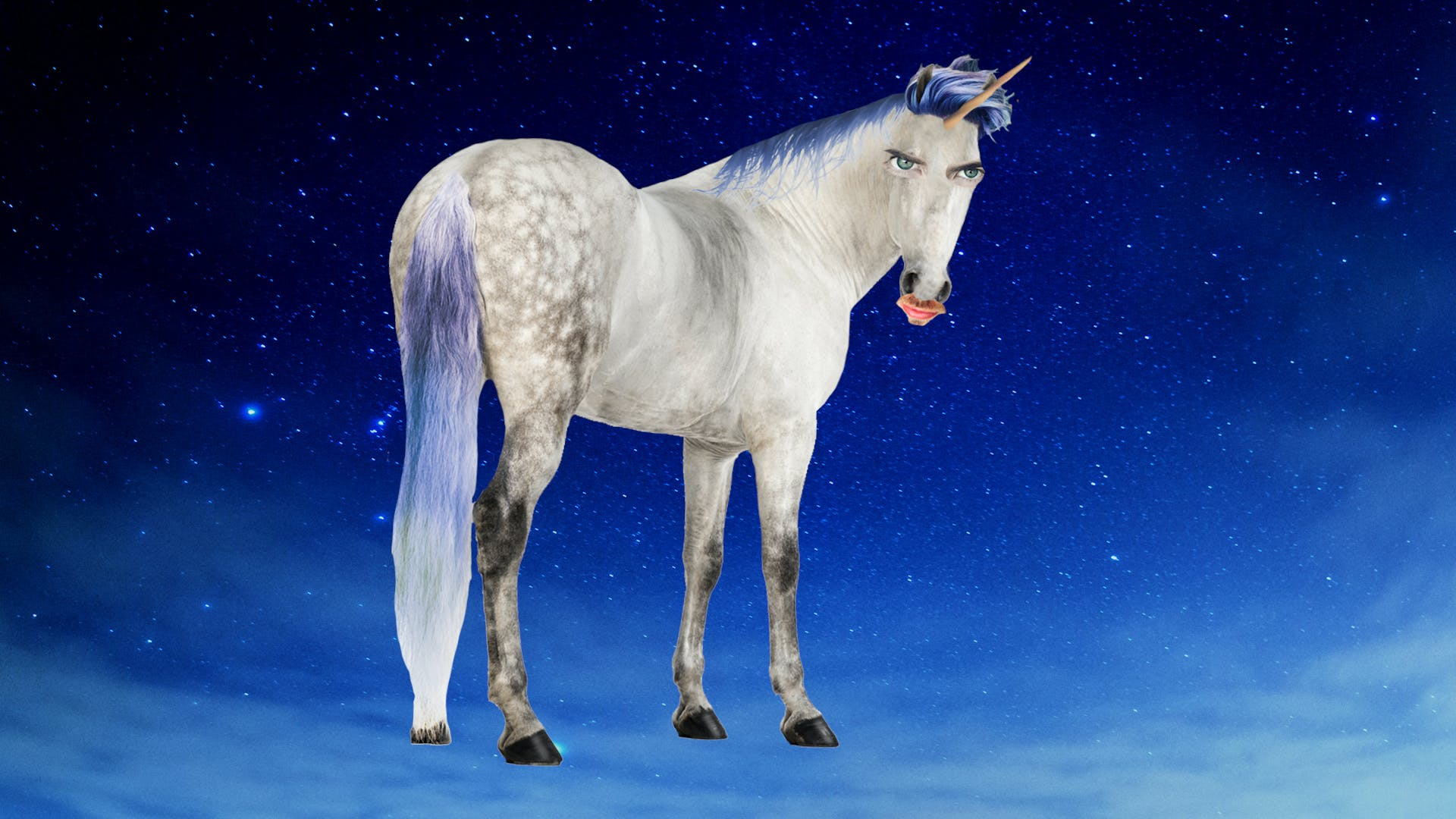 Joey Graceffa as a unicorn