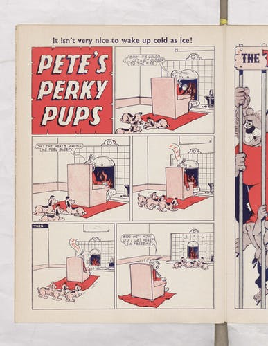 Pete's Perky Pups - Beano Book 1967 Annual