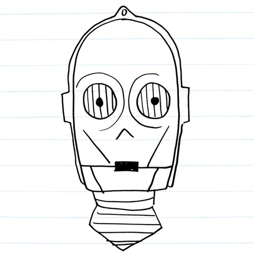 Drawing of C3-PO