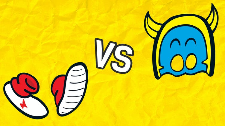 Head2Head - Bananaman's cowl versus Billy's Whizz trainers