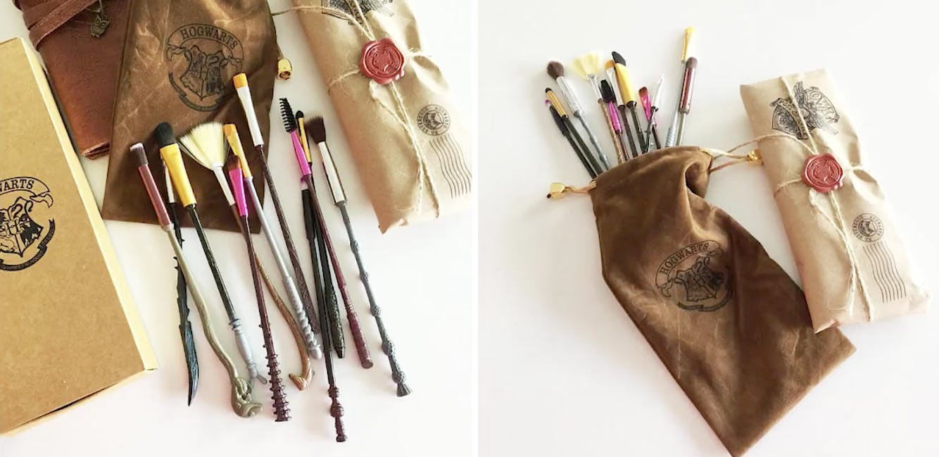 These make up brushes look like Harry Potter wands