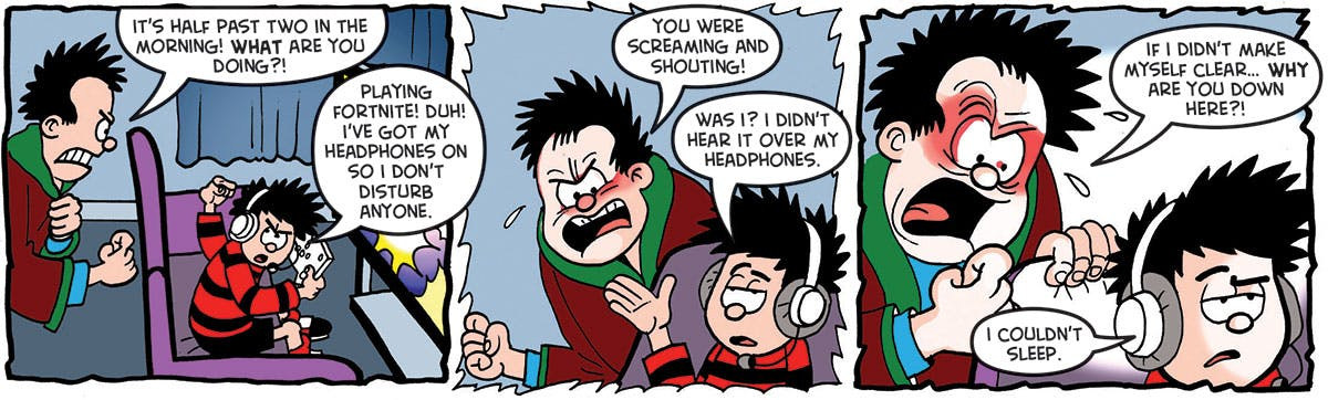 Inside Beano 3956 - Dennis won't go to bed
